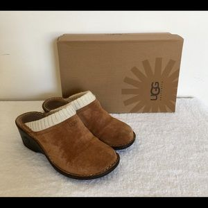 UGG  Chestnut Gael Clogs Mules Wedge Size 9